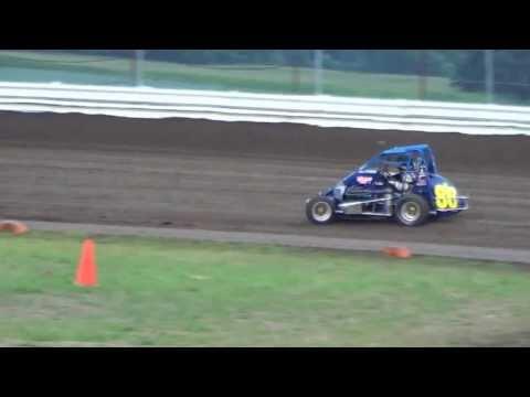 Kyle Schuett First Time in Midget - Aug 2013