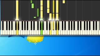 I Won't Last A Day Without You Carpenters [Synthesia Piano] [Piano Tutorial Synthesia]