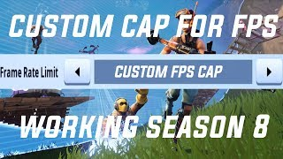 How to set a *CUSTOM* FPS Cap / Frame Limit in Fortnite [No Downloads]
