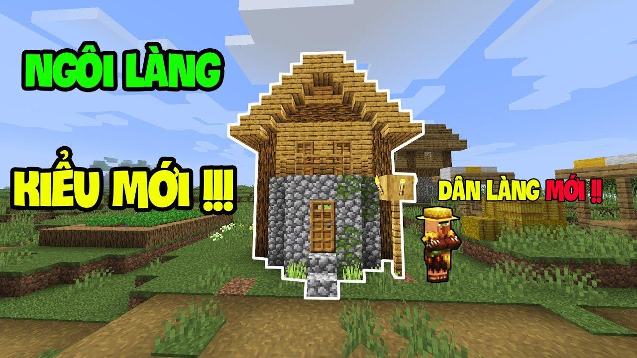 Top 5 Điều Thú Vị Đã Được Thêm Vào Minecraft – Ngôi Làng Kiểu Mới !!!