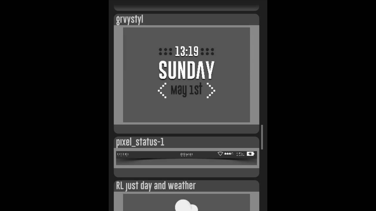 Custom widget form SD card templet with Zooper Widget Pro