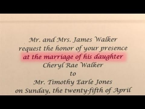 How To Write Wedding Invitations With Bride S Stepfather As Host