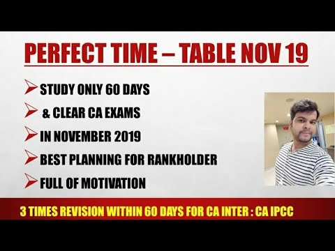 2 MONTH STUDY PLAN TO CLEAR CA EXAMS FOR 2019 : EASIEST STUDY STRATEGY EXPLAINED FOR CA INTER : IPCC
