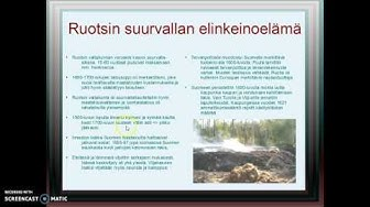 Ruotsin suurvallan elinkeinoelämä