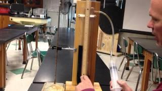 A simple manometer demo