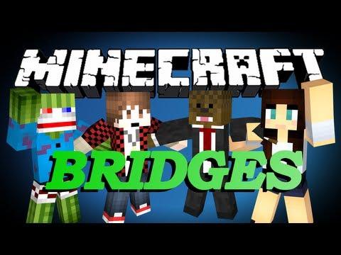WHAT TIME IS IT? Minecraft Bridges WINTER EDITION Minigame w/ BajanCanadian, Bashur, and Ashley