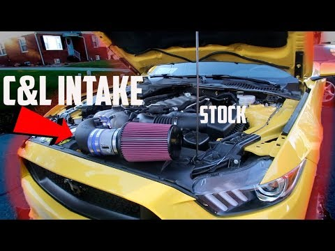 2017 Mustang GT gets NEW C&L INTAKE!!!
