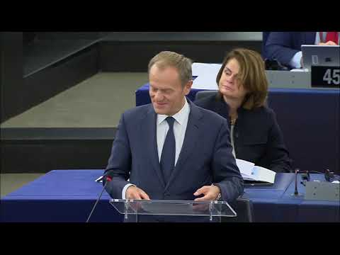 #EPlenary (day 2): opening statements by Donald TUSK and President Jean-Claude JUNCKER