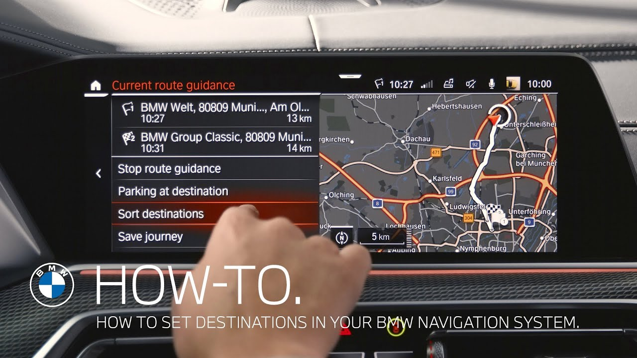 How to set destinations in your BMW navigation system – BMW How-To