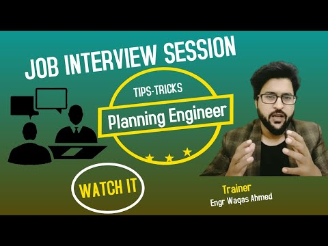 |Planning Engineer Interview|  Tips/Tricks Part-01 by |Engr Waqas Ahmed| whatsapp 00923114396983