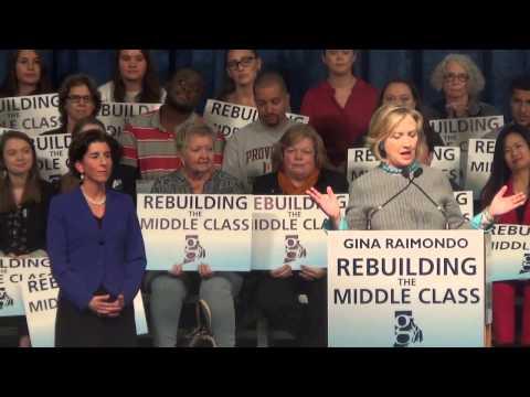 Hillary Rodham Clinton Lauds Raimondo