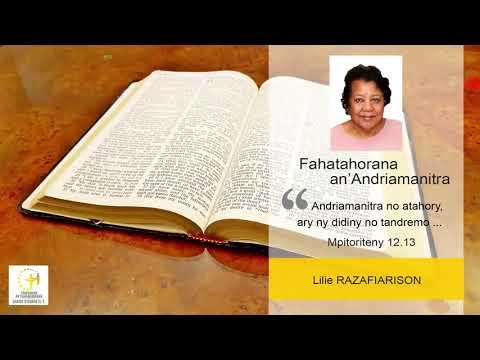 Chaîne d'Honnêteté - Fahatahorana an'Andriamanitra - Lilie Razafiarison