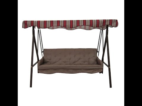 Garden Treasures Patio Swing Cushions, Seat Support and Canopy Fabric Replacement