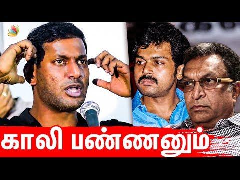 என்னென்னமோ மிரட்டுறாங்க : Vishal Angry Speech | Nadigar Sangam Election 2019