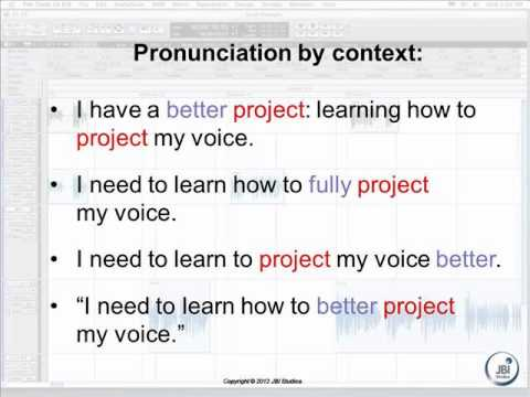TTS | Human Sounding Synthetic Voices | Pronunciation by context