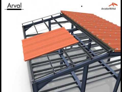 Ogromny Montaż dachu z płyt warstwowych - YouTube PS33
