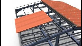 Montaż dachu z płyt warstwowych