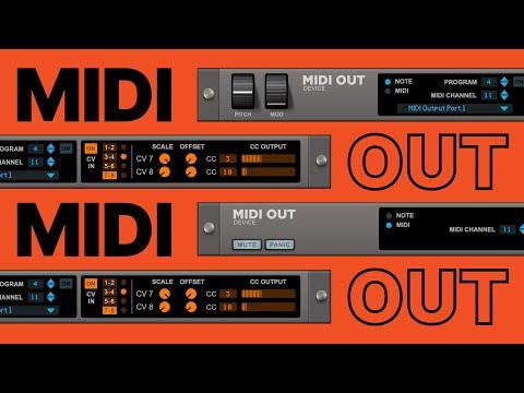 MIDI out in Reason Rack Plugin
