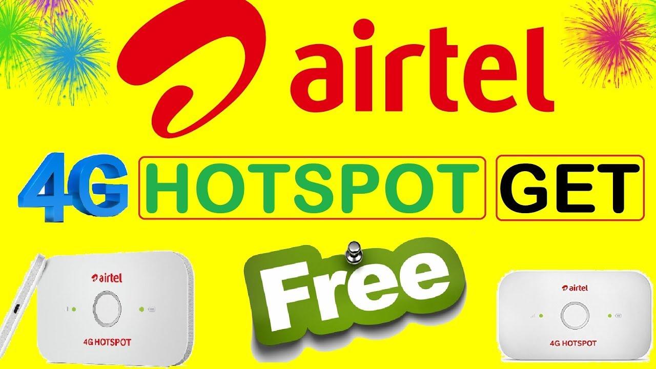 Airtel new offer | Airtel 4G Hotspot Get Free | Airtel WiFi Hotspot Device  Free - YouTube