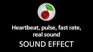 Heartbeat, pulse, fast rate, real sound (looped), sound effect