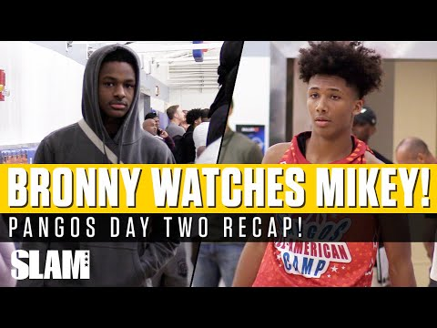 Bronny James Watches Mikey Williams Make HISTORY! 😳 Pangos Day 2 Recap
