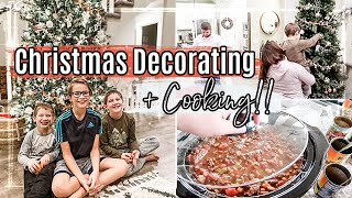 DECORATING for CHRISTMAS 2020 + SLOW COOKER CHILI RECIPE | This Crazy Life Vlog