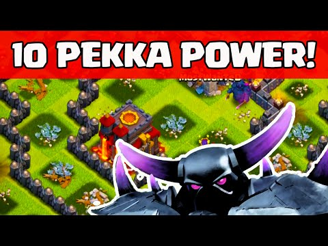 Clash of Clans ♦ 10 PEKKA And the Most Expensive Raid EVER!  ♦ CoC ♦