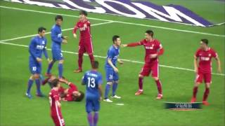 Nasty foul on Alex Witsel in the Chinese Super League