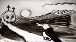 VIA DOLOROSA in sand art       song by  Sandi Patty, sand art by Zanderling