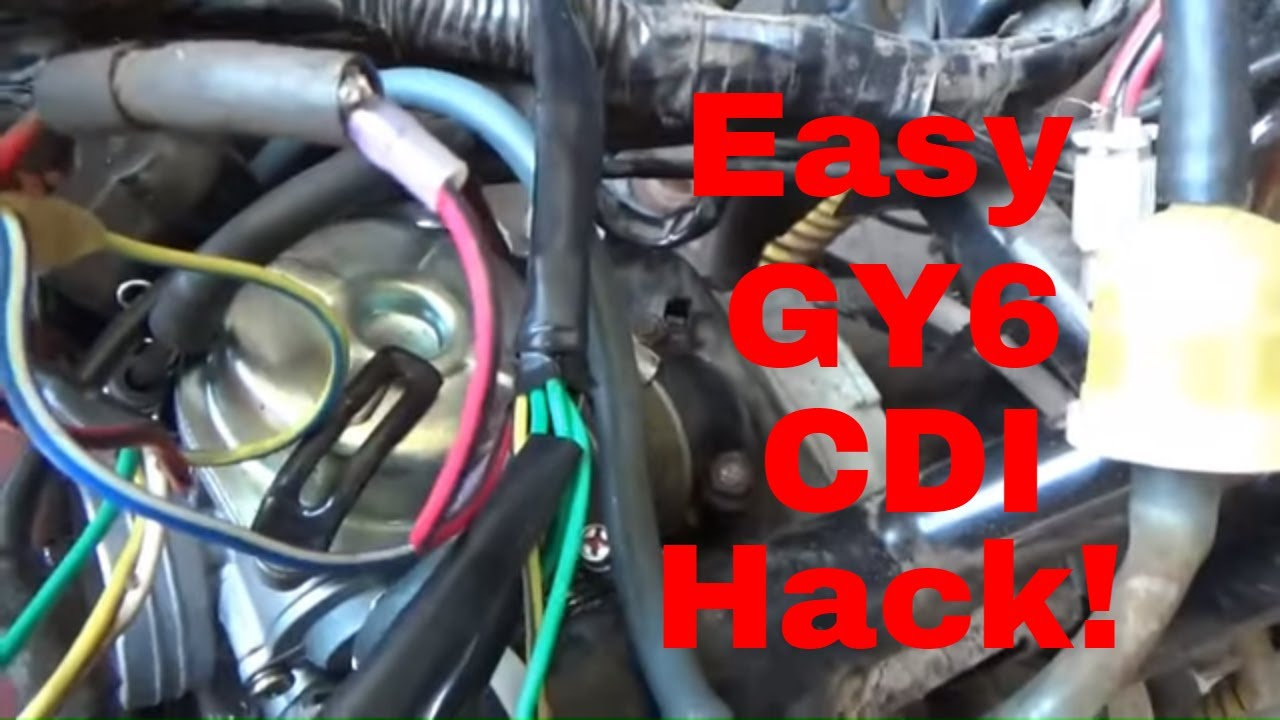 How To Wire A Pit Bike Cdi On A Gy6 Engine  The Pit Bike Cdi Gy6 Hack