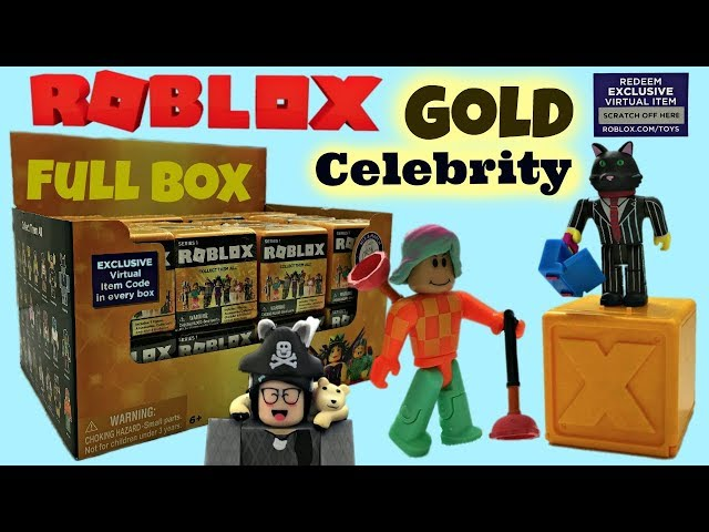 Roblox Celebrity Series 1 Blind Boxes Codes Gold Full Case - roblox 2017 blind mystery surprise cube series 2 ebay