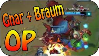 GNAR + BRAUM OP ★ Bot Lane Full Gameplay [Ger]