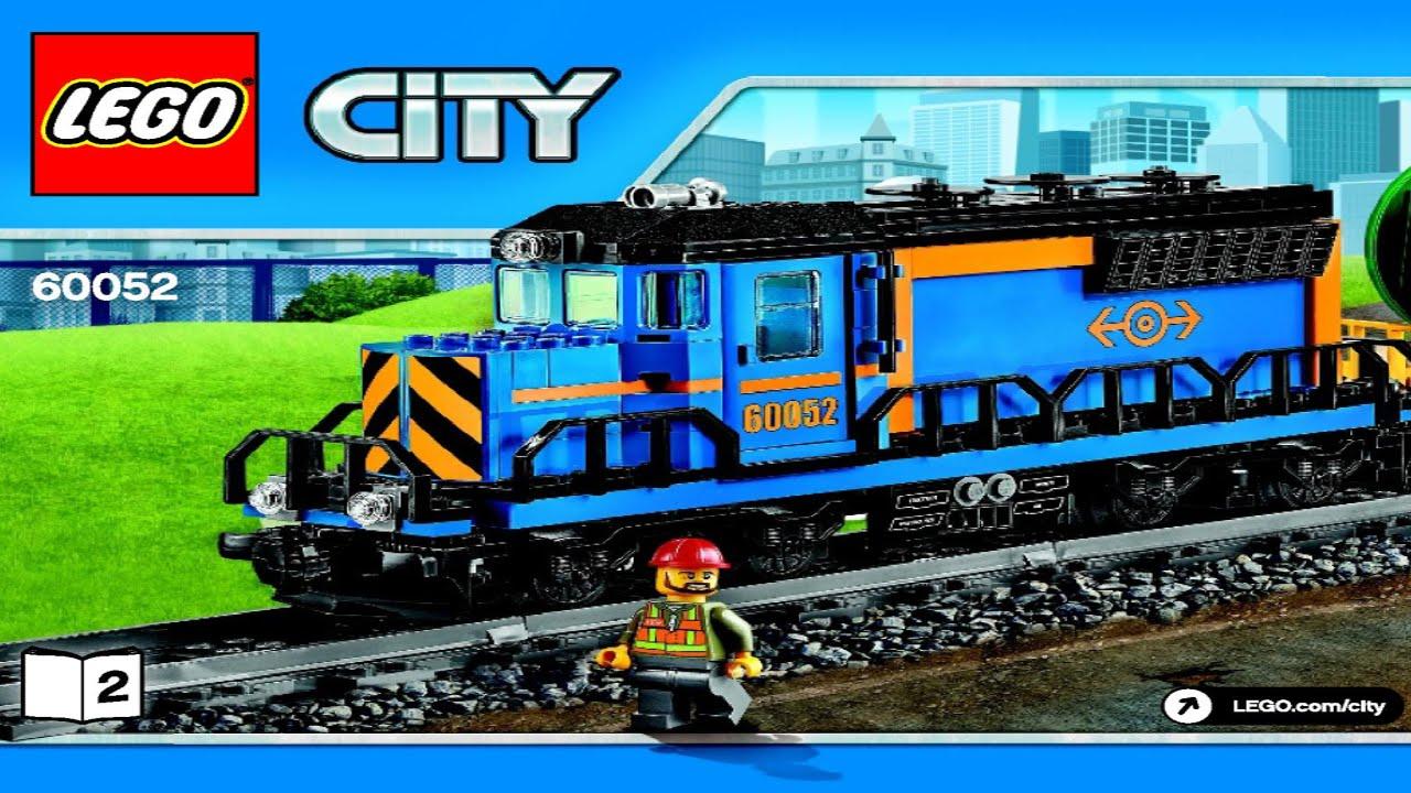 Lego 60052 Cargo Train City Trains Instruction Booklet Youtube