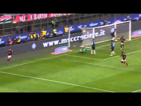 Kaka score his 100th goal for AC Milan vs Atalanta 1:0 Serie A 2014 HD