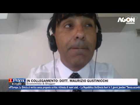 MAURIZIO GUSTINICCHI AD AGON CHANNEL. su Grecia ed Euro 7/715