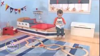 Boys Girls Toddler Bed Kidkraft Boat Bed With Storage 76251 Childrens Kids