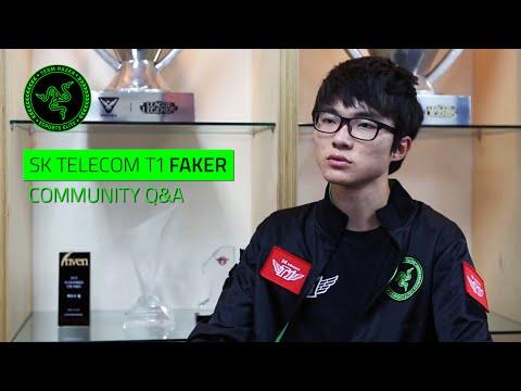 SK Telecom T1 Faker - Community Q&A #TeamRazer