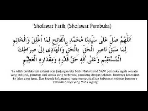 sholawat fatih (Pembuka)