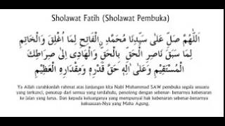 Sholawat Fatih Pembuka