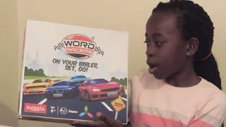 Review of Inovela Word Racers Bible Board game Christmas games for Kids