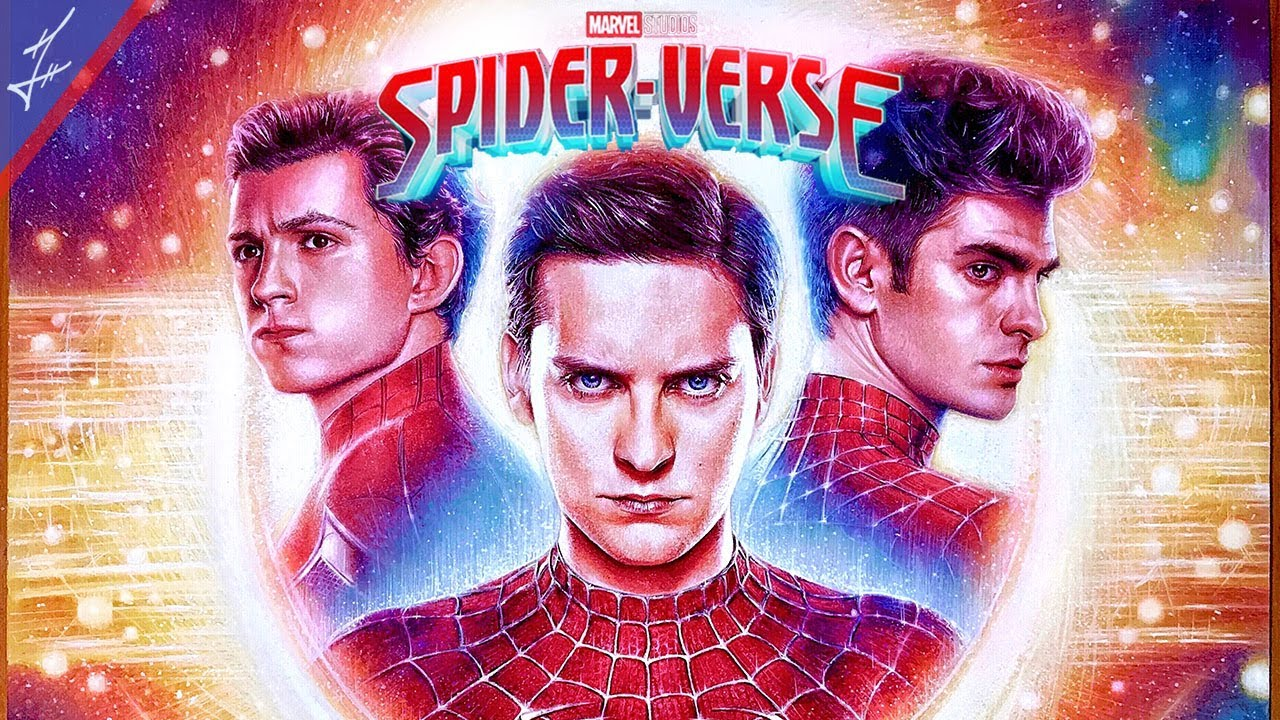 Drawing MCU Spiderverse Poster (FINAL) Timelapse | Tobey Maguire x Andrew Garfield x Tom Holland