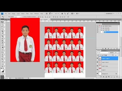 Cara Mudah Cetak Pas Foto Dengan Photoshop Youtube