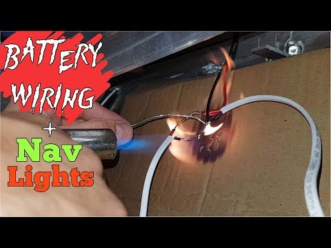 Tinny Mods - DIY Battery Wiring And Navigation Lights - Boat Fit Out Part 3