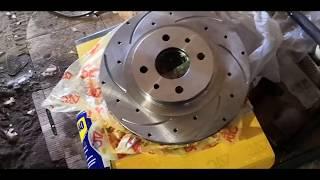 Замена тормозных дисков на ВАЗ Калине с 13  на 14. Решение трудностей