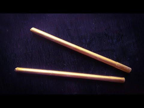 How To Make Simple Golden Dandiya Sticks From News Paper | DIY Dandiya Sticks From News Paper
