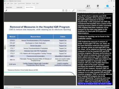 WEBINAR: CMS Reporting Updates, Proposed Rules and the Potential Financial Impacts to Hospitals