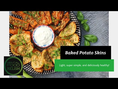 Baked Potato Skins Healthy Brain Food Recipe How To