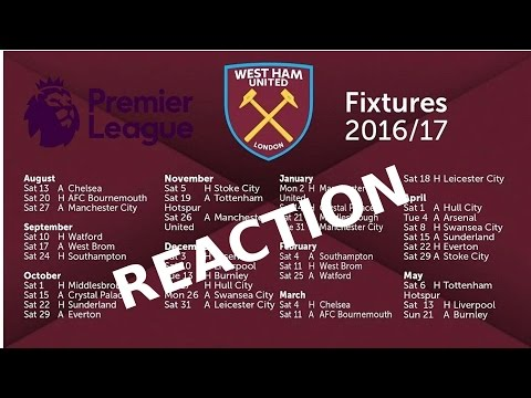 2016/2017 Fixtures Reaction at the Olympic Stadium!