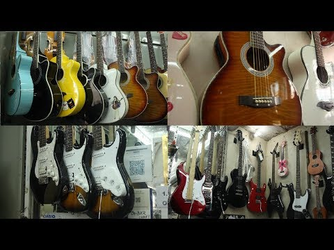 Buy Guitar in Delhi Market daryaganj guitar market And Sitar,Drum,PA,Piano, Mini Midi controller,Mic