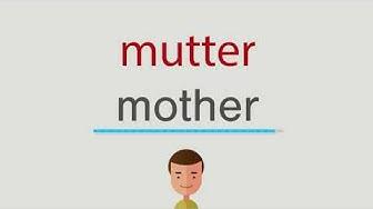 mutter auf englisch